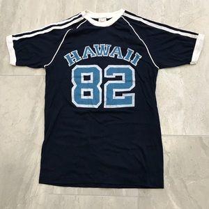 Vintage 80s Hawaii Ringer t-shirt Top Small